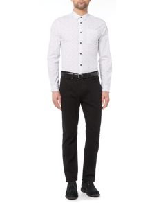 Linea Lewis Dot Printed White Shirt