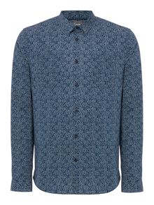 Linea Greene Dot Floral Print Shirt