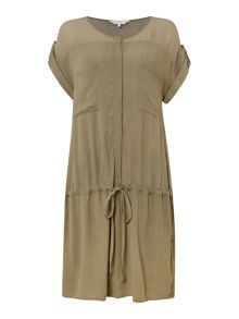 Gray & Willow Plain sheer yoke tunic
