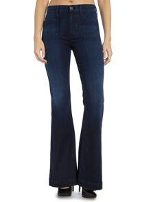 Hudson Jeans Taylor high waist flare jean in rogue waves
