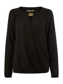 Biba Hardware detail wrap blouse