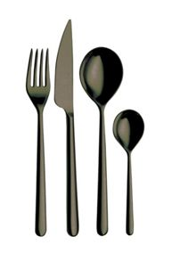 24 Piece cutlery set Oro Nero