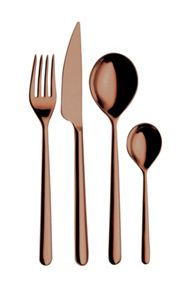 24 Piece cutlery set Bronzo