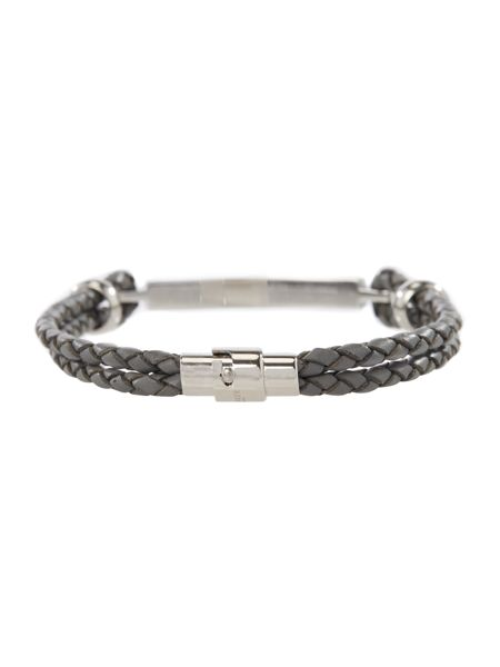 Ted Baker Whosdat metal and leather bracelet
