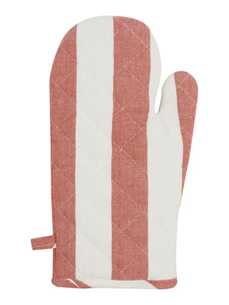 Gray & Willow Red stripe single oven glove