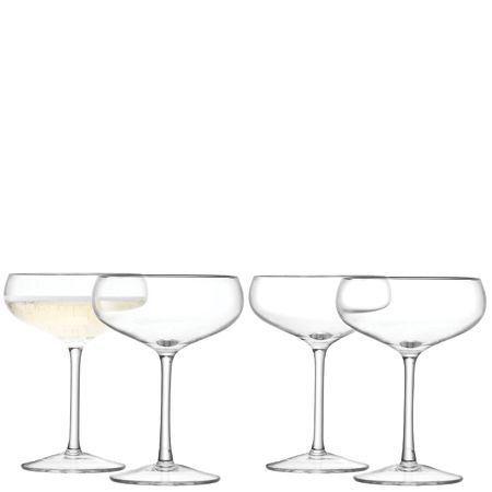 LSA 24 Champagne Saucers, 215ml