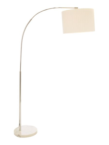 Casa Couture Demi White Marble Arc Floor Lamp