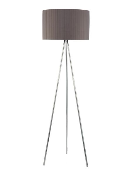 Casa Couture Kali Tripod with Grey Pleated Shade