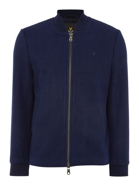 Lyle and Scott Zip through Long Sleeve Melton Bomber