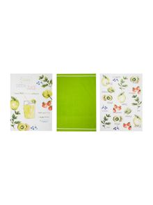 Linea Juicing set of 3 tea towels