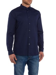 Lyle and Scott Poplin Tonal Long Sleeve Shirt