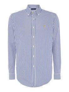 Polo Ralph Lauren Long sleeve custom fit stripe poplin shirt