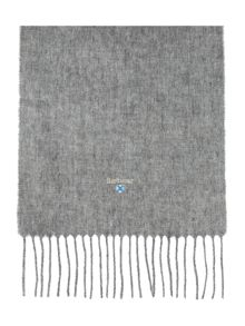Plain lambswool scarf