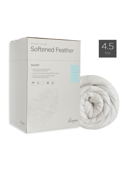 Linea Softened feather duvet 4.5 TOG