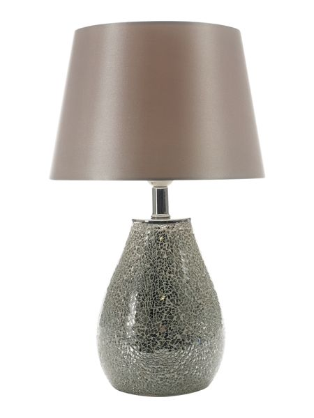 Linea Celise mosaic silver table lamp