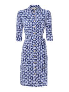 Linea Geo printed shirt dress