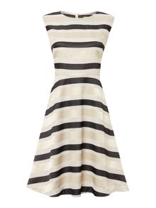 Linea Odette stripe full skirted dress