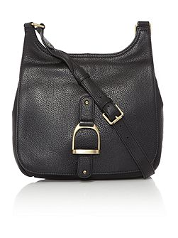 Sway black large cross body bag