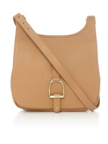 Sway camel large cross body bag