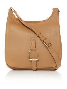 Village England Sway camel large cross body bag