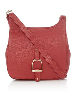 Sway red large cross body bag