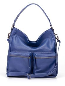 Village England Beamish blue medium hobo bag