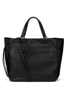 Village England Edenfield black zip tote bag