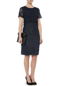 Linea Lace popover shimmer shutter dress