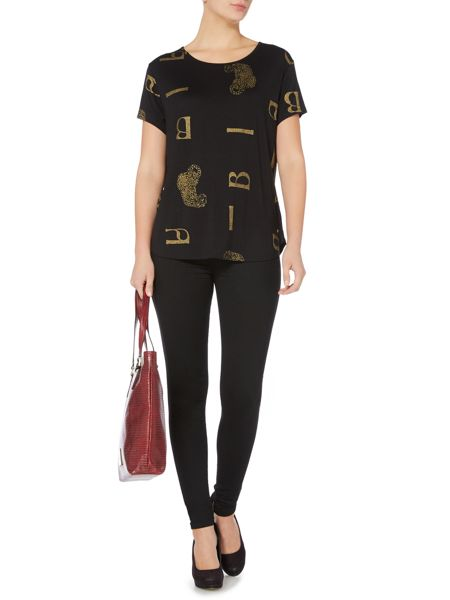 Biba Scattered leopard short sleeve t-shirt