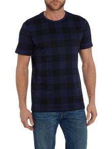 Lyle and Scott Block Check Mercerised Short Sleeve T-shirt