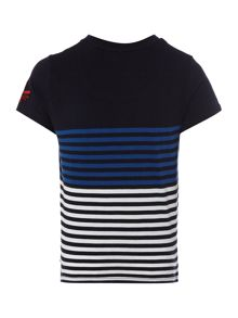 Howick Junior Boys block stripe t-shirt with pocket