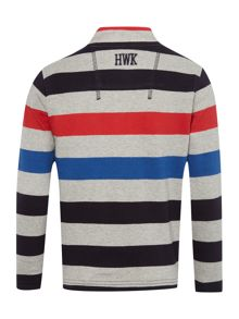 Howick Junior Boys Striped zip up sweater