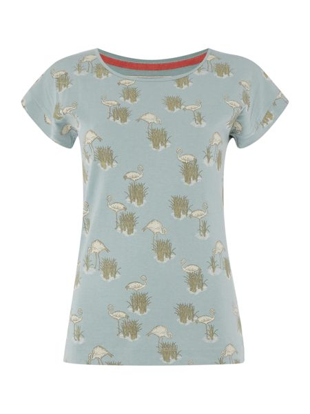 Brakeburn Flamingo printed t shirt