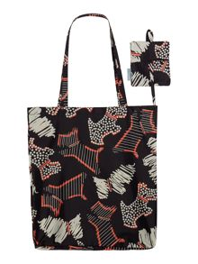 Fleet street black foldaway tote bag