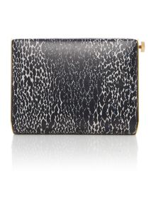 Lulu Guinness Karlie black snake print clutch bag