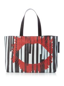 Lulu Guinness Larysa nylon multi-coloured large tote bag
