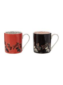 Multicoloured stacking duo mug