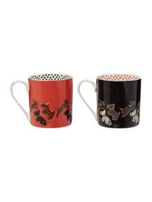 Radley Multicoloured stacking duo mug