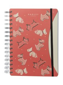 Radley Fleet street multicoloured A5 notebook