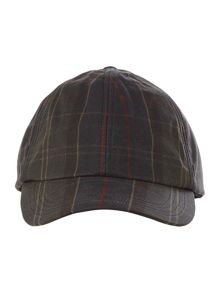 Barbour Tartan wax sports cap