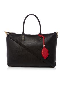 Lulu Guinness Frances pebble black tote bag