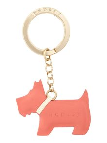 Radley Go walkies orange keyring