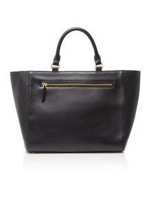 Lulu Guinness Cesca weave medium black tote bag