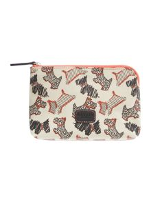 Fleet street ivory small zip pouch