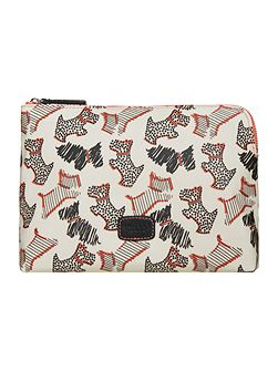 Radley Fleet street ivory medium zip pouch