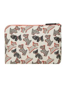 Fleet street ivory medium zip pouch