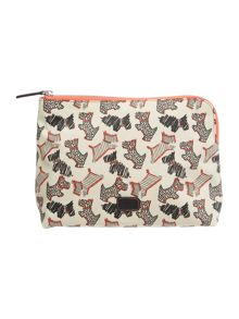 Fleet street ivory large zip pouch