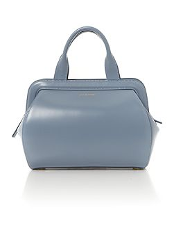 Lulu Guinness Paula shiny calf light blue medium