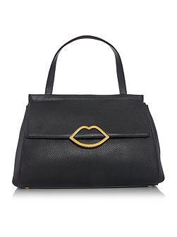 Gertie pebble black large shoulder bag