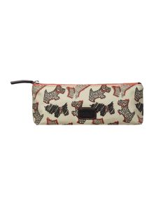 Radley Fleet street ivory zip pencil case